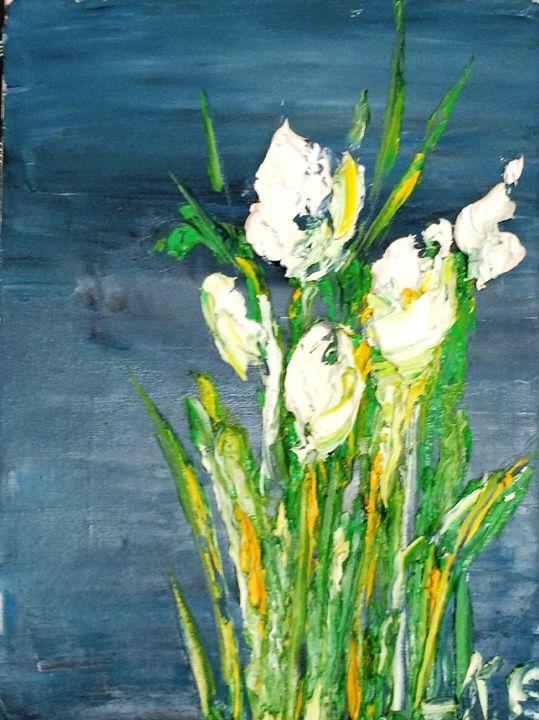 blue & white - Ketevan Gordeziani Art