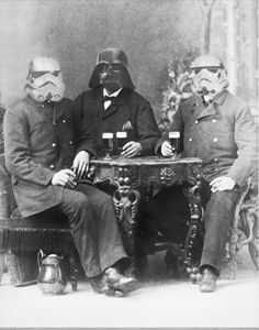 Vader enjoying a Pilsner