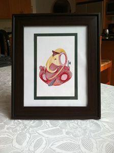 Embroidered Ganesha Artwork Framed!