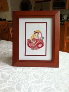 Ganesha Artwork in Red Frame