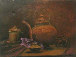 Teapot with flower