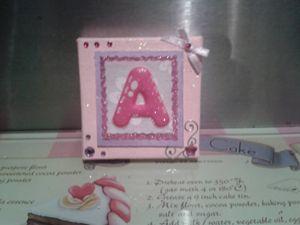 Handmade Miniature Lettered Canvas