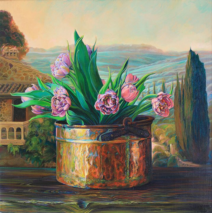 A bouquet of tulips. - Sergey Lesnikov art