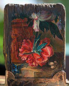 Vintage artwork by Huysum fragment - Sergey Lesnikov art