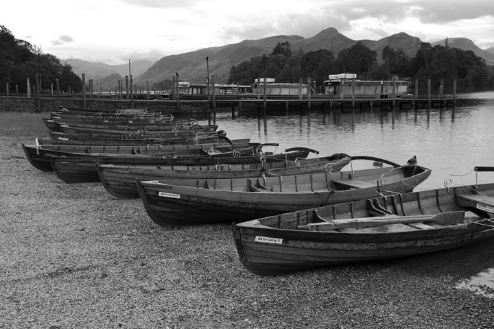 Rowing boats Derwentwater, Keswick - Dave Porter Landscape Photography