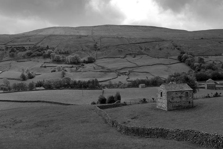 Stone barns, flower meadows, Muker - Dave Porter Landscape Photography