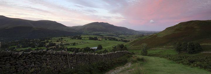 Sunset over the Threlkeld valley - Dave Porter Landscape Photography