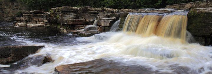 Waterfalls, river Swale; Richmond - Dave Porter Landscape Photography