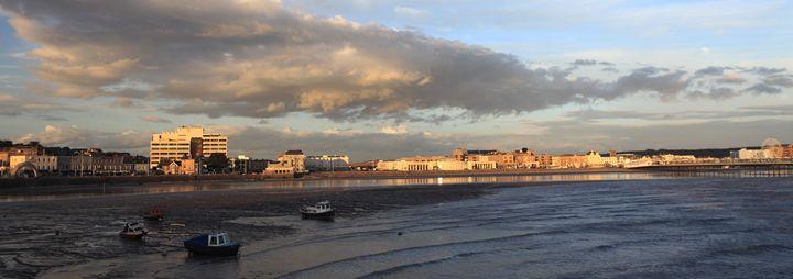 Sunset, Weston Super Mare Promenade - Dave Porter Landscape Photography