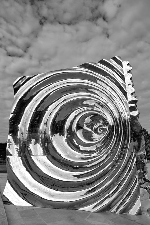 Cube Sculpture, Bergen City - Dave Porter Landscape Photography