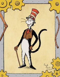 Steampunk Cat in the Hat