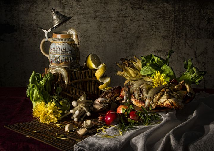 Crabs and Veggies - Victoria's Still Life