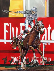 California Chrome in Dubai World Cup