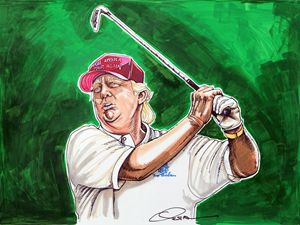 Donald Trump Tees Off