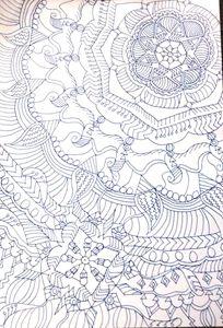 A simple mandala drawing