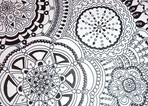 Mandala with various circles