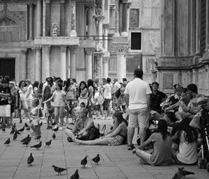 People of St Mark's Square