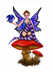 Jezebel Fairy with Baby Dragon