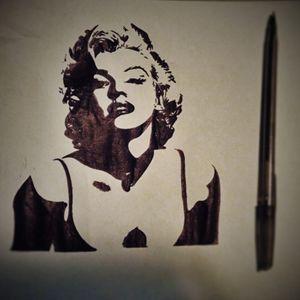 Marilyn Monroe Pen Drawing