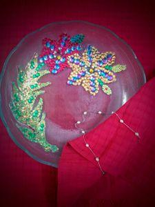 Luxury chamki worked glass HomeDecor
