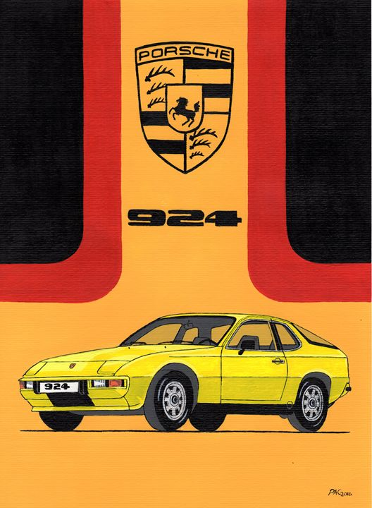 Porsche 924 - Paul's Automobile Art ( Paul Cockram )