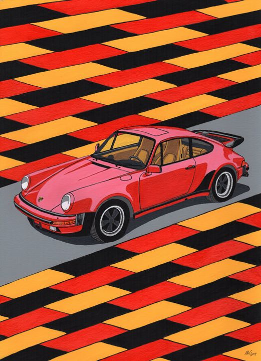 Porsche 911 Turbo - Paul's Automobile Art ( Paul Cockram )