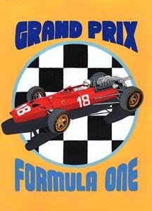 F1 GP Retro Poster