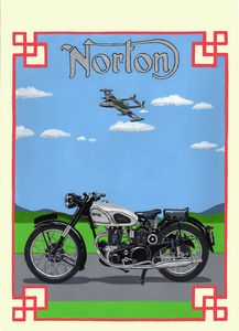 Norton Dominator - Paul's Automobile Art ( Paul Cockram )