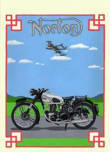 Norton Dominator - Paul's Automobile Art ( Paul Cockram )