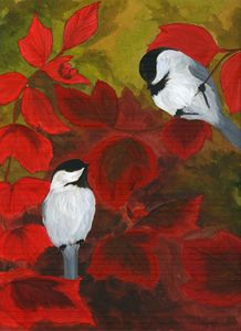 Chickadees in the Brush