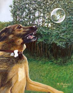 Dog and Bubble