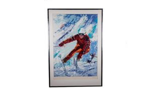 Downhill Racer Serigraph