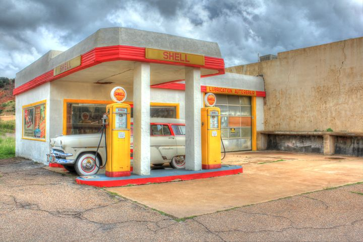 Lowell Shell Station - Lion's Gate and Open Road Photography