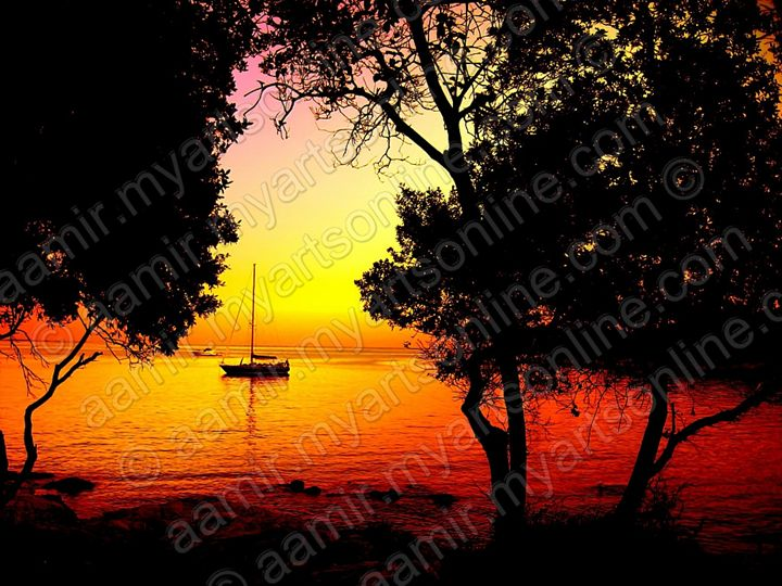 Sunset at Maskin Island. Croatia - Aamir Show