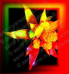 Red-Yellow-Green Flower