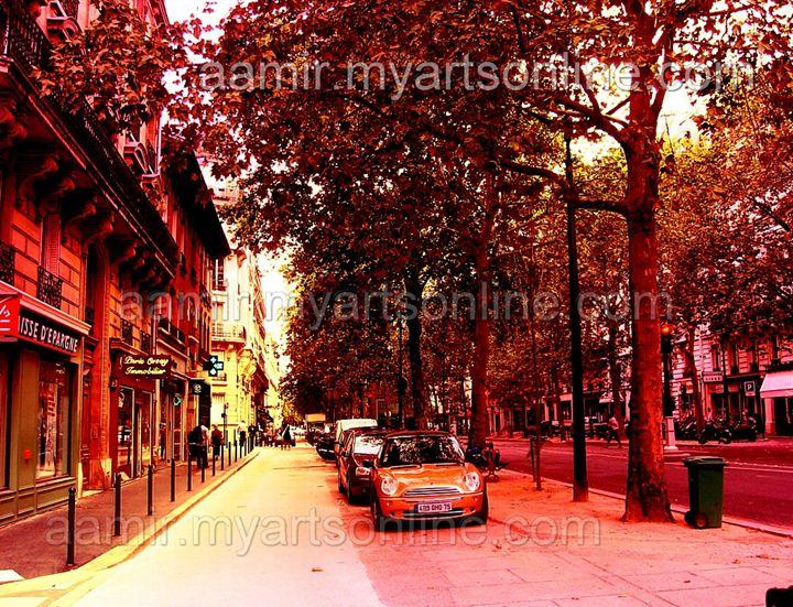 *Morning Paris Streets* linen canvas - Aamir Show