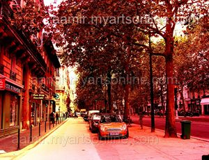 *Morning Paris Streets* linen canvas