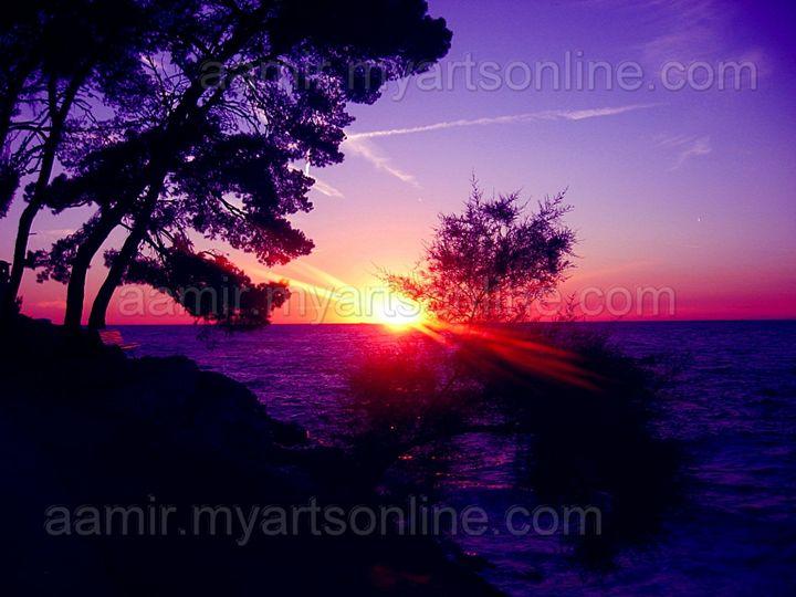 *Middeterian Sea Sunset* canvas - Aamir Show