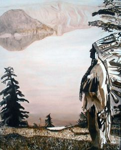 Indian Chief at  Crater Lake