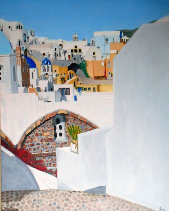 Fia in Santorini - My JP Art