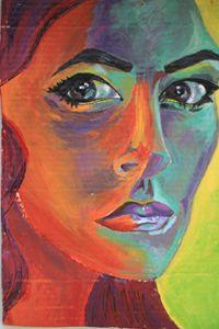 Mary Art: Woman's Gaze Look