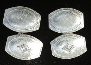 Diamond Cufflink14k WGold.For Sale