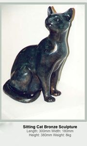 Sitting Cat 27/100 - Quokka Bronzes