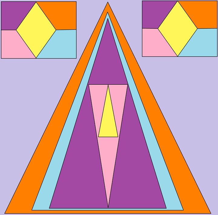 Triangle of colors - Design Party
